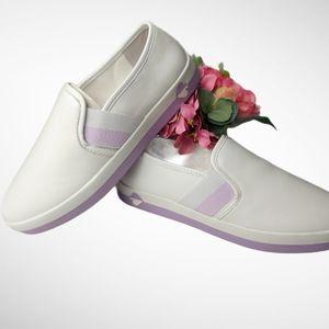 Kate Spade Sandy Slip On Sneaker White/Lilac 8.5